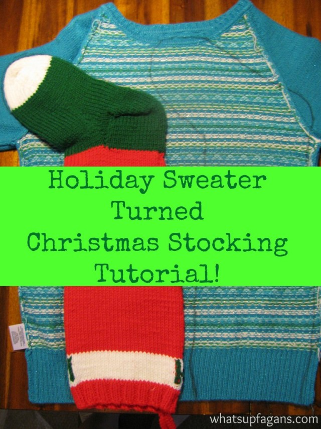 Christmas Stockings from a sweater