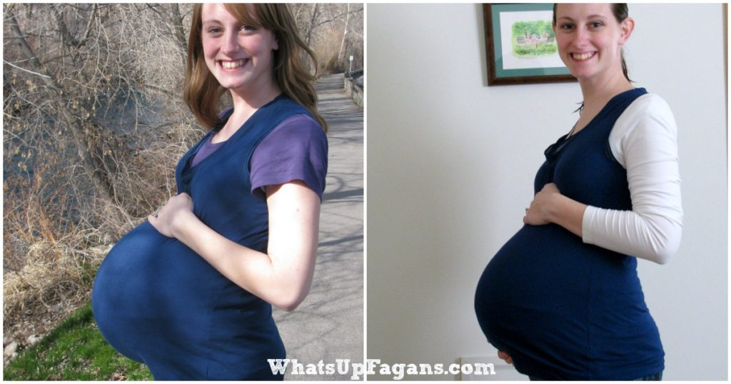 It's fun to see how twin pregnancy vs singleton pregnancy compare for one mom. Similar but different!