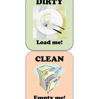 Free Dishwasher Clean Dirty Printable