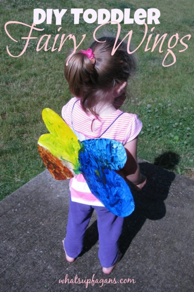 How to make homemade DIY Toddler Fairy Wings using things I already have around the house.