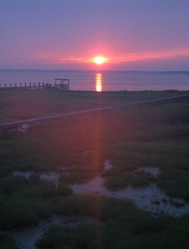 Chincoteague Virginia Sunset on the bay