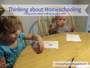 Thinking About Homeschooling Blog Series