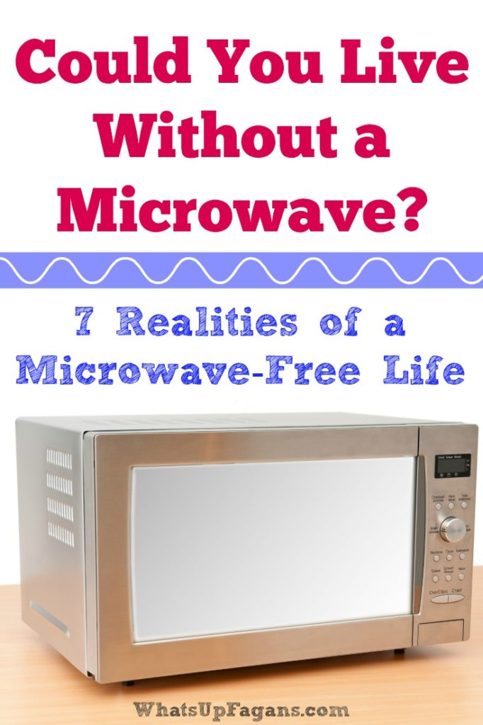 So this is what life is really like for someone who lives in a microwave free home. I wonder if I could life without a microwave.