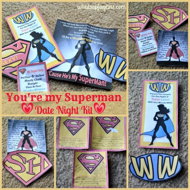 Date Night In Idea - You're my Superman Date Night Kit for Husband