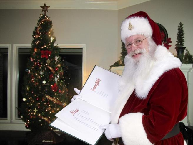 icaughtsanta - checking his naughty and nice list