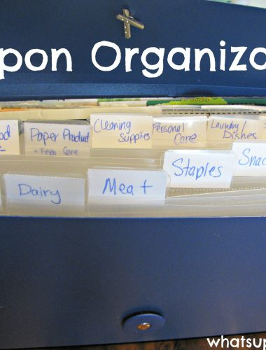 Couponing 101 - Coupon Organization with a file folder. whatsupfagans.com