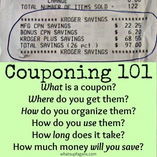 Couponing 101 - Answering all the basic questions to help you get started saving money! It's easier than you think. whatsupfagans.com
