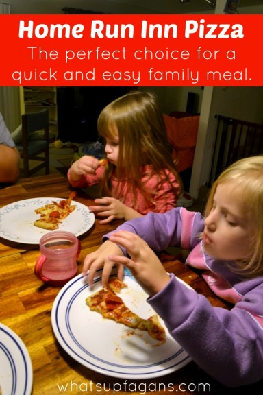 Home Run Inn's Frozen Pizza - The perfect choice for a quick and easy family meal. They're delicious! #HomeRunInn #ad whatsupfagans.com