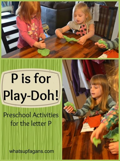 Letter P Activities for Preschool - Play with Play-Doh! whatsupfagans.com