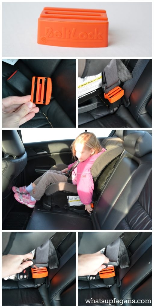 """Use BeltLock to stop little fingers from """"accidentally"""" releasing the seat belt securing their car seat! Awesome device! whatsupfagans.com"""