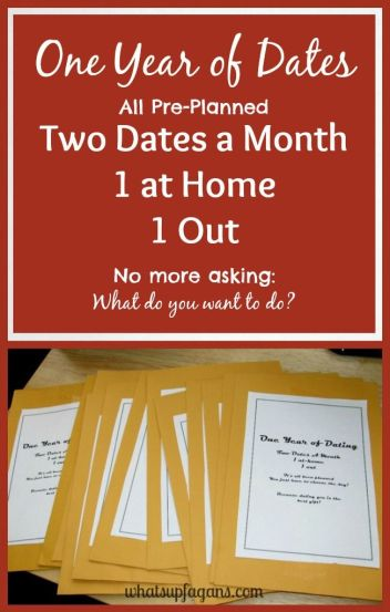 """How to create """"A Year of Dates"""" Gift for your loved one this Valentine's Day. whatsupfagans.com"""