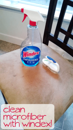 Housekeeping Cleaning Tips - Clean microfiber chairs with windex!