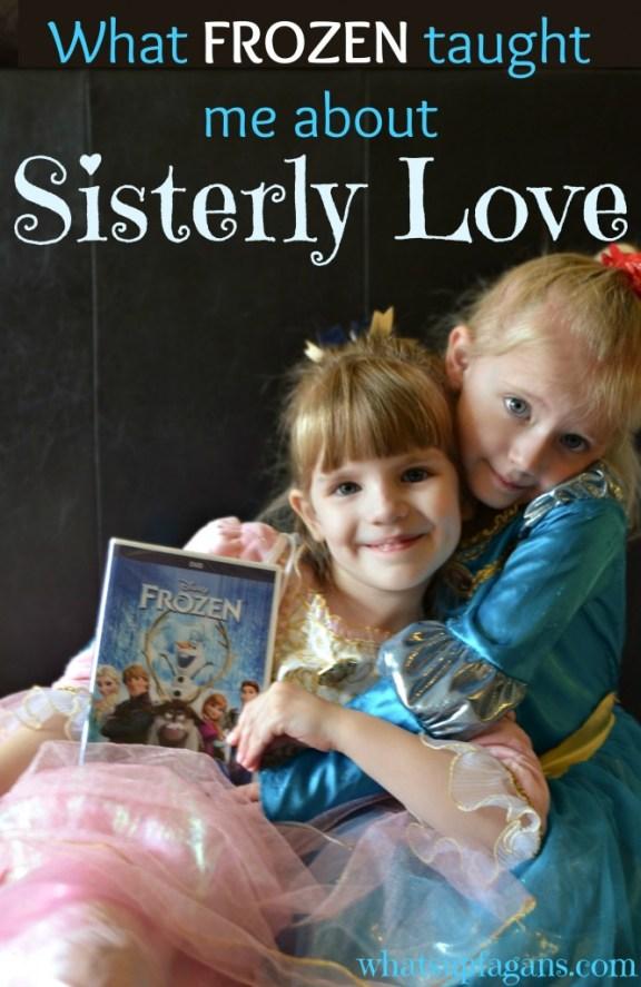 Disney's FROZEN is really all about sisterly love - Anna love Elsa despite everything. #shop #cbias #FROZENFun  whatsupfagans.com