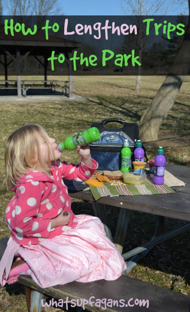 If you want to make outdoor fun for your young kids last longer and without the tantrums, then check out these tips! #fuelyourimagination #fruitshoot #sp | whatsupfagans.com