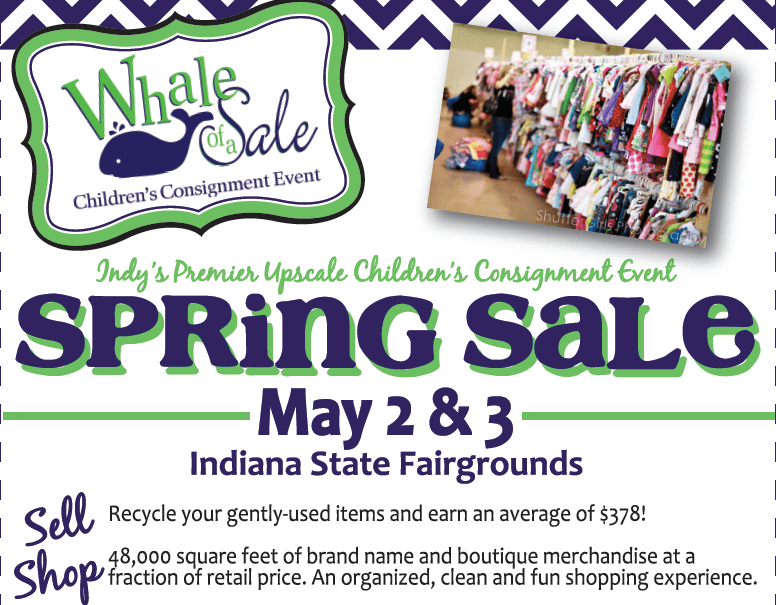 Enter to win 2 pre-sale passes to this year's Whale of a Sale Spring event in Indianapolis!