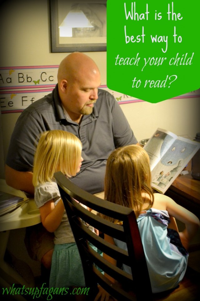 What really is the best way to teach children how to read? How is a parent supposed to know?   whatsupfagans.com