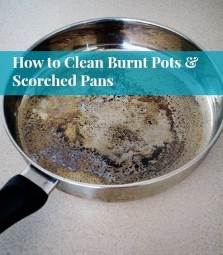 how to clean burnt pots and scorched pans - Household Cleaning Trick