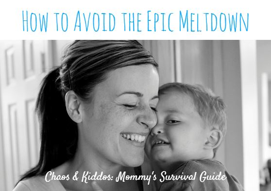 How to avoid the epic meltdown