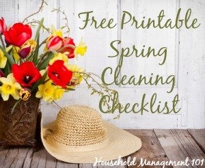 Free Printable Spring Cleaning Checklist - Household Management 101