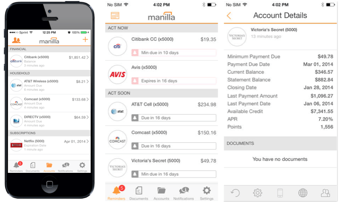 Download the Apparoo App of the Week - Manilla, the bill and account manager tool! Never have a late payment again!