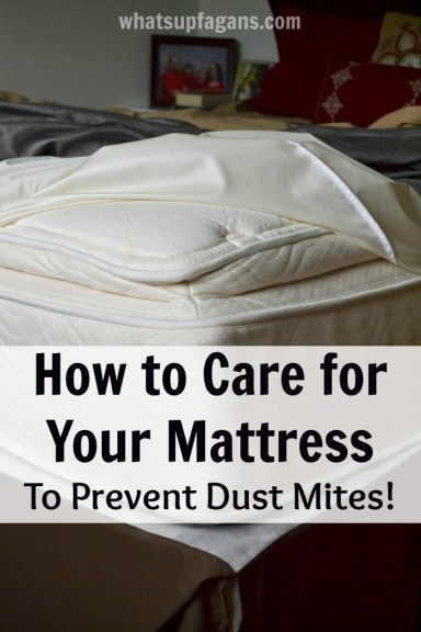 How to care for your mattress so you can prevent dust mites. So important!