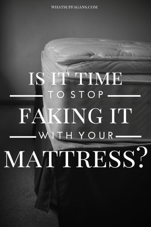 It's Better Sleep Month - So is it time for you to stop faking it with your mattress and get on top of a new one? Here's info to determine if it is. #ad