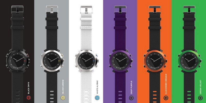 Colorful fashionable and cool tech gift idea for dads! COGITO Connected Device watch!