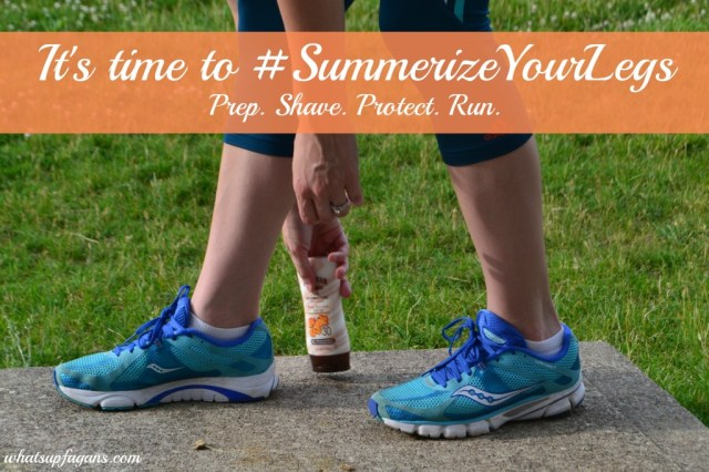 It's time to #SummerizeYourLegs! Prep. Shave. Protect. Run! #shop #cbias