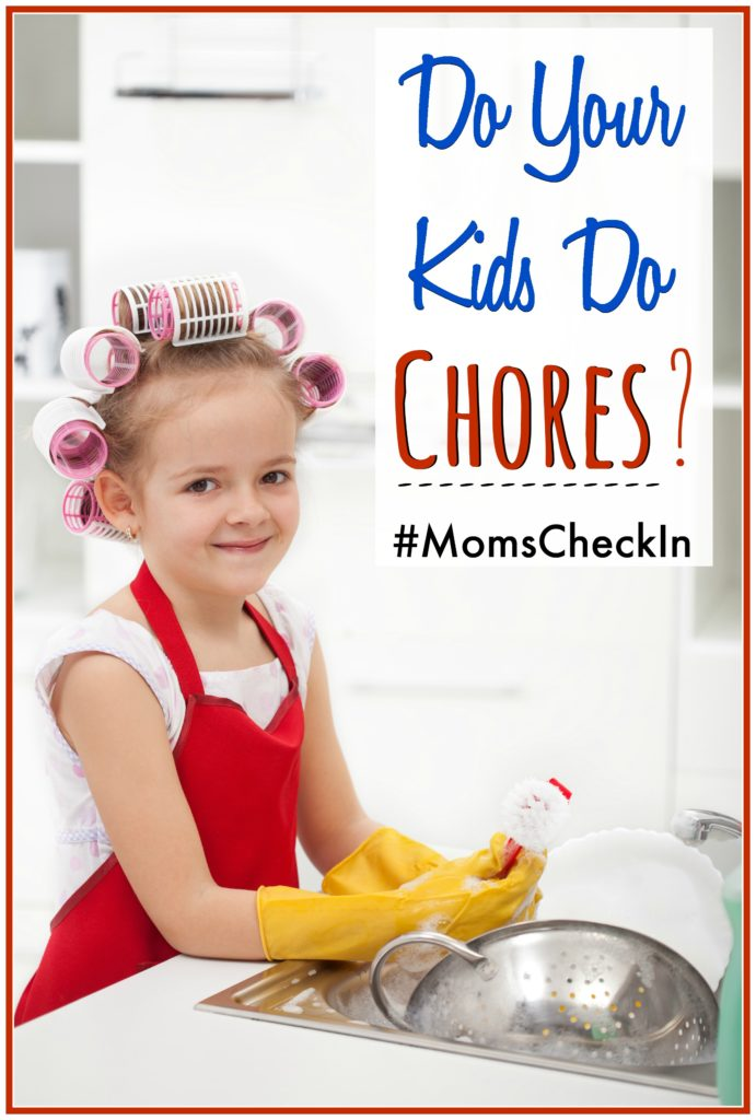 """5 Moms give their answer to the question """"Do your kids do chores?"""" #MomsCheckIn"""