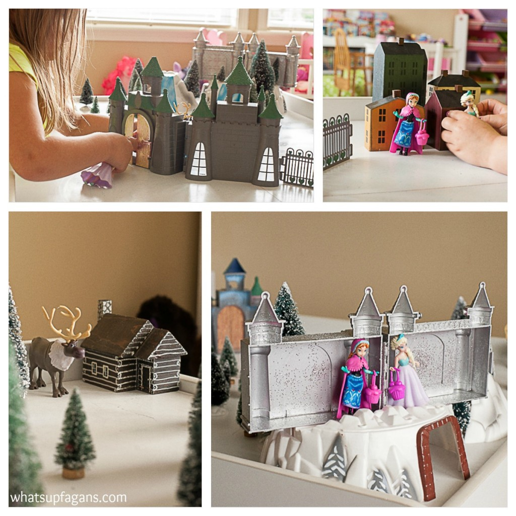 DIY Train table to Frozen Playset playscape
