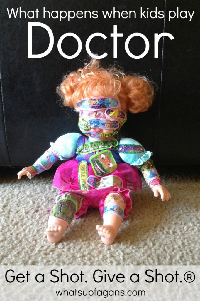 LOL! This is what happens when kids play doctor! #GiveaShot #shop #cbias