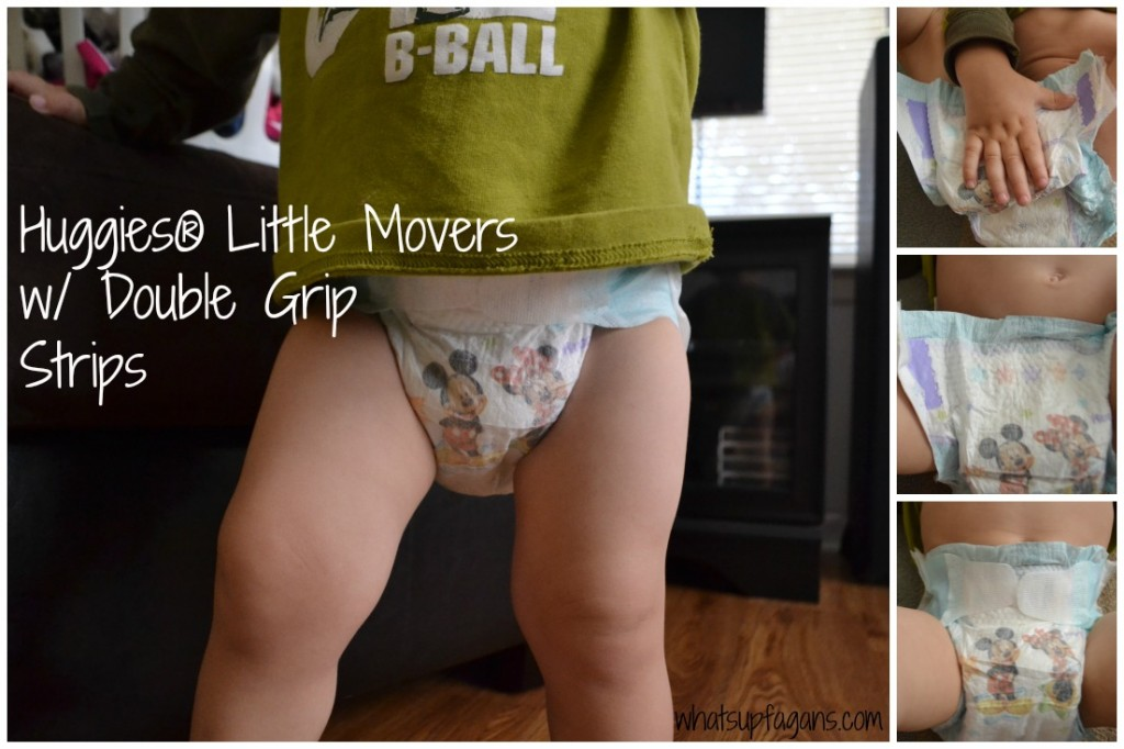 I love the new double grip strips of Huggies!! #MovingMoments #ad