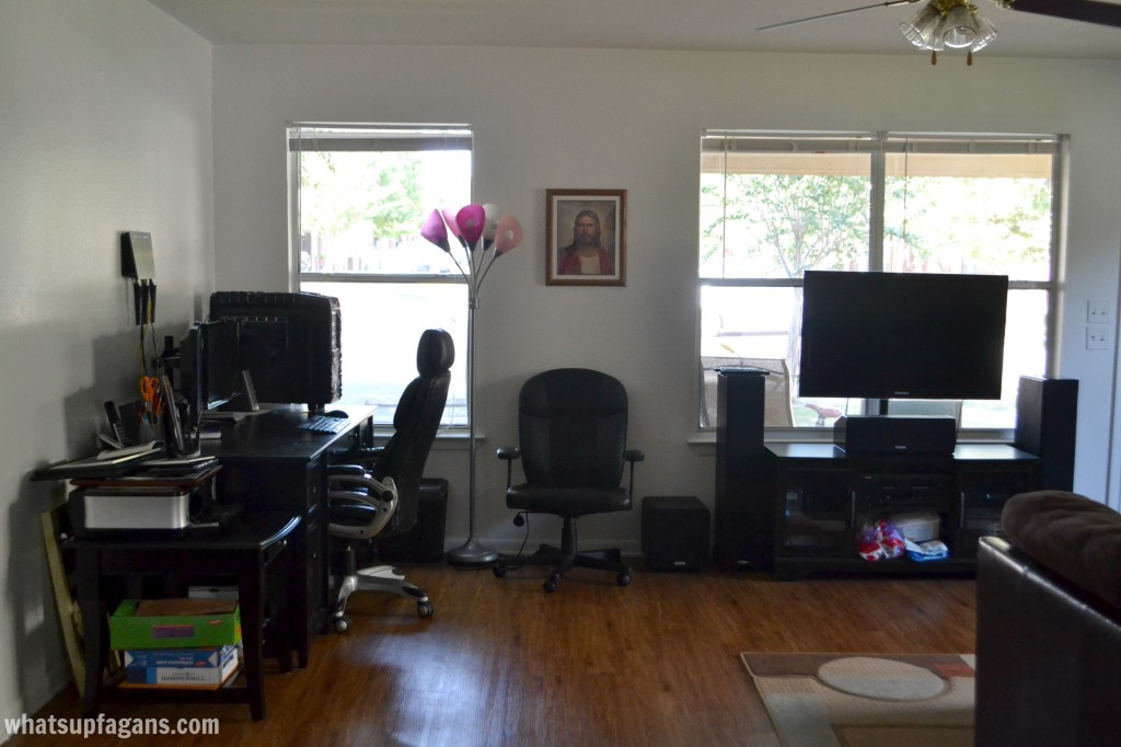 Living Room and Office