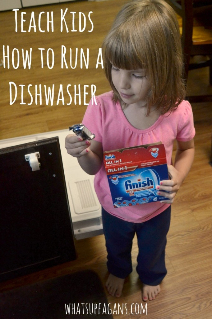 Teach Kids How to Run a Dishwasher