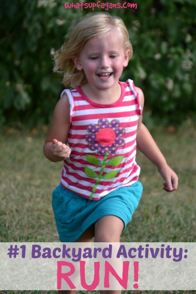 My kids #1 backyard activity is always to RUN! #stunthunt #ad