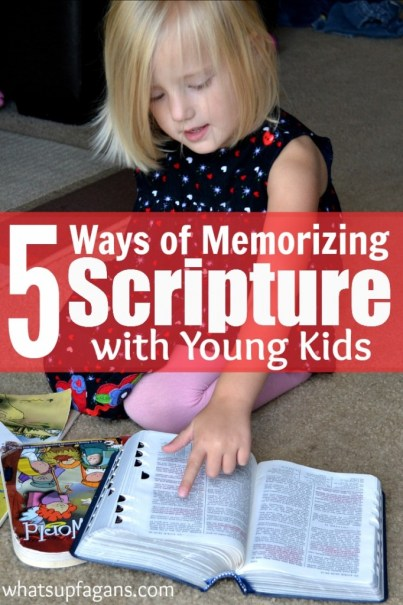 Memorizing Scripture with kids is fun, especially when you teach it through these 5 different methods.