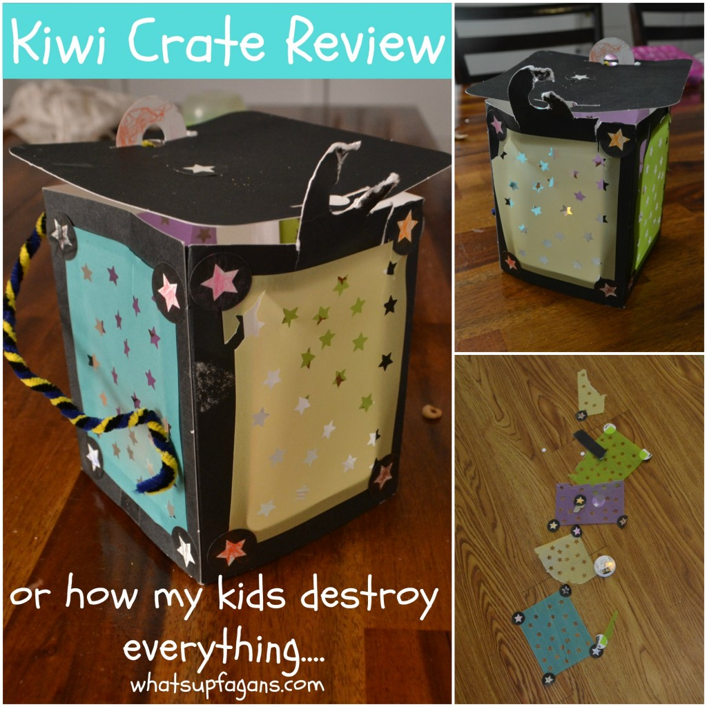 Kiwi Crate Review - kids destroy everything