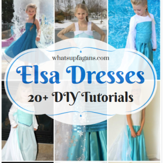 Love this list of DIY Elsa Costume Dresses! It's giving me some inspiration as to how I want to make my daughter's Queen Elsa dress from Disney's Frozen for Halloween.