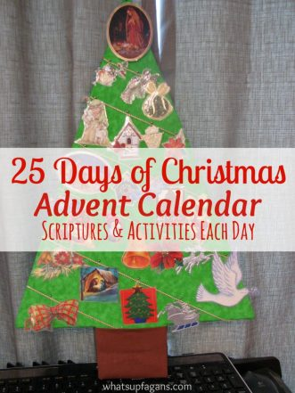 Count down the 25 Days of Christmas with this Advent Calendar Tree craft! Includes daily scriptures to read and things to do.