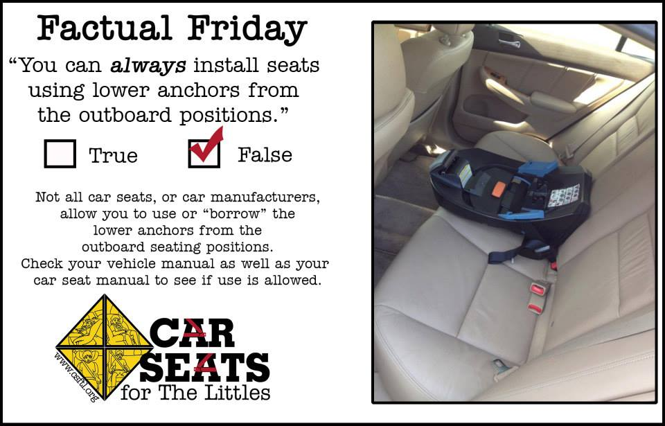 Car Seats - Middle Tethers