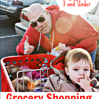 Awesome tips for grocery shopping with kids without tantrums or fits. Good advice from someone with three kids 3 years old and under, including a set of twins!