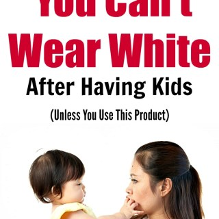 Kids are messy, and unfortunately, a lot of times that means your freshly laundered clothes don't last nearly as long as they did pre-kids! Here's a great way to keep those whites white!