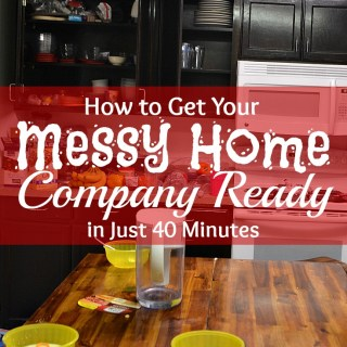 Wow! This family cleaned their entire (messy) downstairs, including spray mopping, in just 40 minutes! Love these cleaning tips. #CleanForTheHolidays #cbias #ad