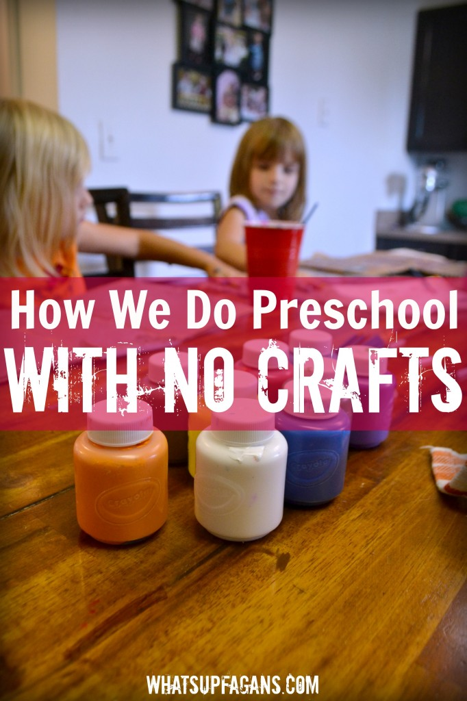 If you can't stand doing preschool crafts with your preschoolers at home for homeschoolilng, here are some suggestions on what to focus on instead.