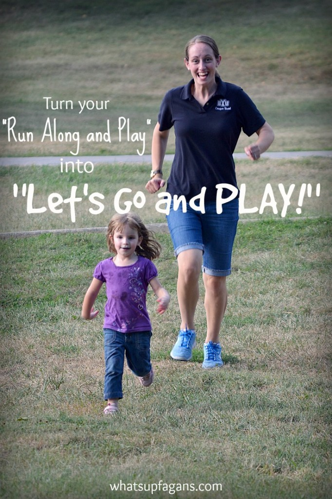 """Stop telling your kids to """"Run along and Play"""" and start saying """"Let's Go and Play!"""" This is an awesome list of ways to make your kids think you are a fun mom."""