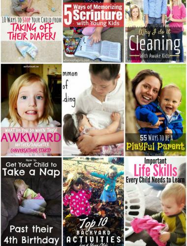 The best parenting tips and advice from What's up Fagans? in 2014 covering topics like breastfeeding, nap routines, raising great kids, being a playful mom, and stopping babies from taking off their diapers! Some great things here for sure.