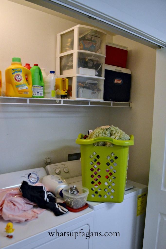 Organization - Small Apartment Laundry Room Solution