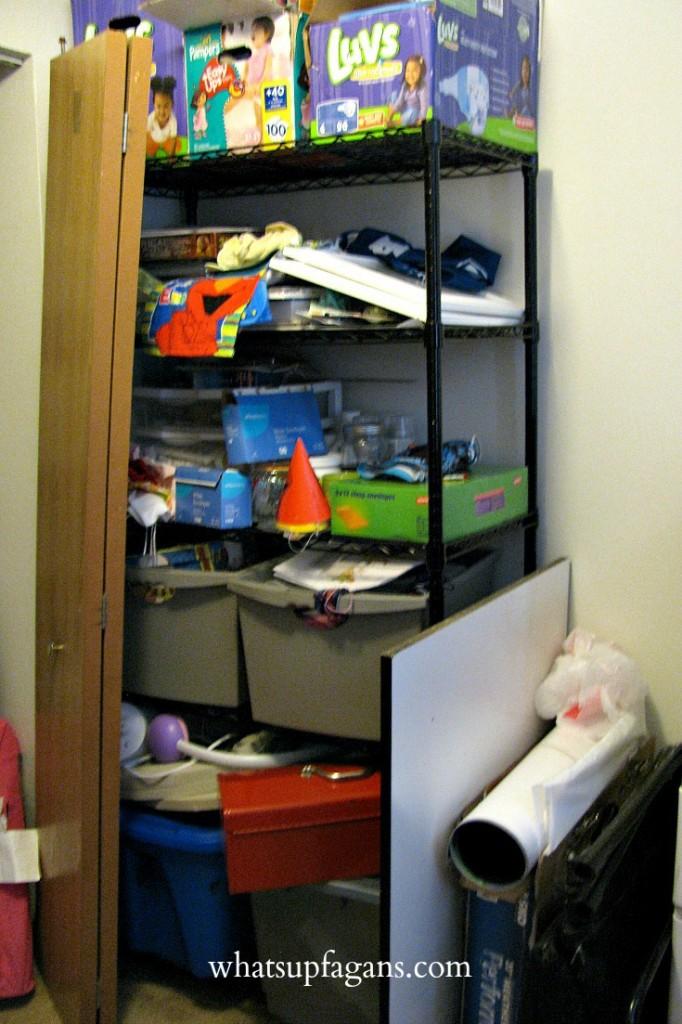 Organization - Small Apartment Shelving Unit for Storage