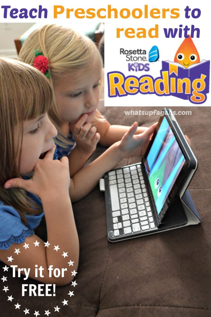 Teach preschoolers and young kids how to read with the new Rosetta Stone Kids Reading Program! It's an awesome app and you can try it out for free! Love this honest product review. #MC #RSKids #sponsored