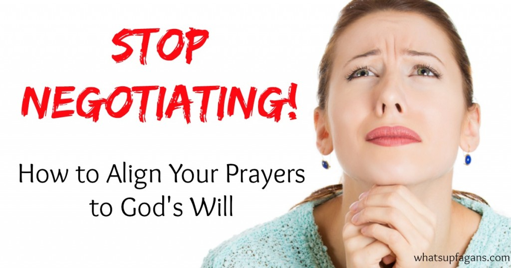 Such a great post on improving personal prayers! We need to stop negotiating our will and start accepting god's will when we pray.